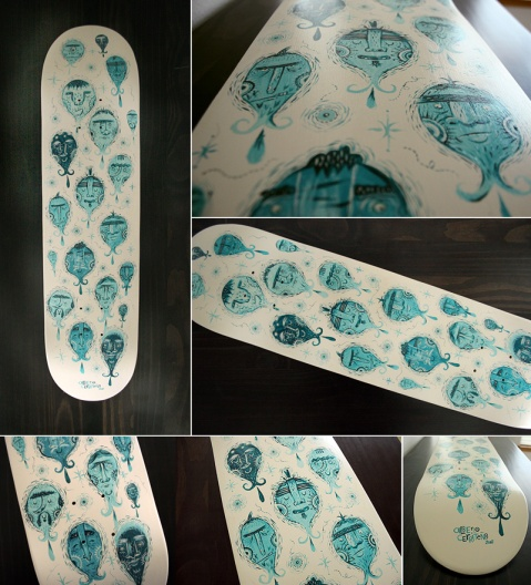 Crazy skateboard design